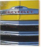 1952 Chevrolet Grille Emblem Wood Print