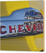 1952 Chevrolet Hood Emblem Wood Print