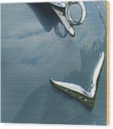1952 Chrysler Saratoga Coupe Hood Ornament Wood Print