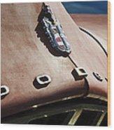 1952 Dodge Hood Emblem Wood Print