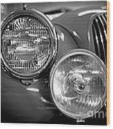 1952 Jaguar Headlights Wood Print