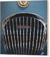 1952 Jaguar Hood Ornament And Grille Wood Print