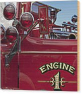 1952 L Model Mack Pumper Fire Truck 2 Wood Print