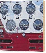 1952 L Model Mack Pumper Fire Truck Controls Wood Print
