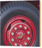 1952 L Model Mack Pumper Fire Truck Wheel 2 Wood Print