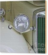 1952 Mg Roadster Headlamp Wood Print