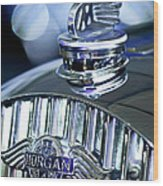 1952 Morgan Plus 4 Hood Ornament And Emblem Wood Print