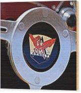 1953 Arnolt Mg Steering Wheel Emblem Wood Print