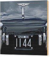1953 Bentley Rear View License Plate Wood Print