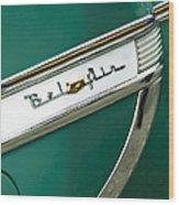 1953 Chevrolet Belair Side Emblem Wood Print