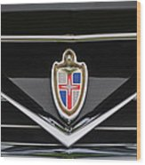 1953 Lincoln Capri Derham Coupe Emblem Wood Print