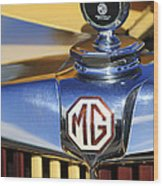 1953 Mg Td Hood Ornament Wood Print