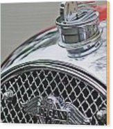 1953 Morgan Plus 4 Le Mans Tt Special Hood Ornament        Wood Print
