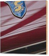 1953 Siata 208s Spyder Emblem Wood Print