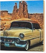 1954 Cadillac Coupe Deville Wood Print by Tim McCullough
