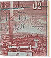 1954 Centenary Of Australian Telegraph Stamp Wood Print