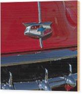 1954 Chevrolet Convertible Hood Emblem Wood Print