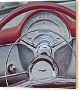 1954 Chevrolet Corvette Steering Wheel Wood Print