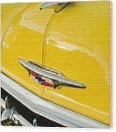 1954 Chevrolet Hood Ornament 4 Wood Print
