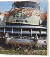 1954 Chevy Bel Air Wood Print by Joy Tudor