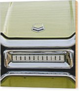 1954 Ford Thunderbird Taillight Emblem Wood Print