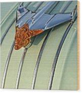 1954 Pontiac Chieftain Hood Ornament Wood Print