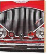 1955 Austin Healey 100-4 Wood Print by David Patterson