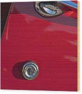 1955 Chevrolet 210 Door Handle Wood Print