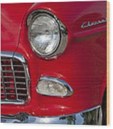 1955 Chevrolet 210 Front End Wood Print