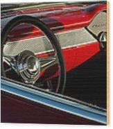 1955 Chevrolet 210 Steering Wheel Wood Print