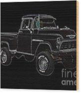 1955' Chevrolet 3100 350 V8 Wood Print