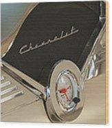 1955 Chevrolet Belair Clock Wood Print