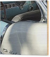 1955 Chevrolet Belair Dashboard 2 Wood Print