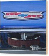1955 Chevrolet Belair Hood Emblem 4 Wood Print