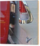 1955 Chevrolet Belair Taillight Emblem Wood Print