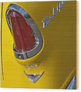 1955 Chevrolet Nomad Taillight Wood Print