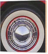 1955 Chevrolet Nomad Wheel Wood Print
