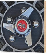 1955 Chevrolet Truck Wheel Rim Wood Print