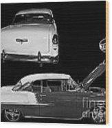 1955 Chevy Bel Air 2 Door Hard Top Wood Print