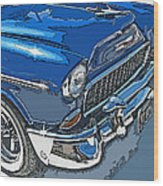 1955 Chevy Bel Air Front Study Wood Print by Samuel Sheats