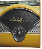 1955 Chevy Belair Clock Wood Print