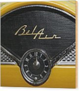 1955 Chevy Belair Clockface Wood Print