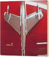 1955 Chevy Belair Hood Ornament Wood Print