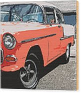1955 Chevy Wood Print by Steve McKinzie