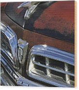 1955 Chrysler Hood Ornament Wood Print