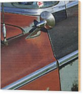 1955 Chrysler Windsor Deluxe Emblem Wood Print