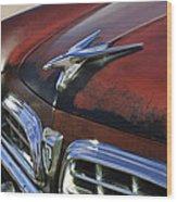 1955 Chrysler Windsor Deluxe Hood Ornament Wood Print