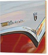 1955 Ford Fairlane Crown Victoria Emblem Wood Print