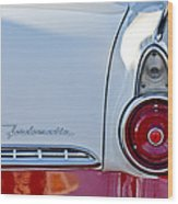 1955 Ford Fairlane Fordomatic Taillight Wood Print