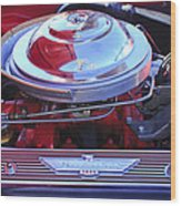 1955 Ford Thunderbird Engine Wood Print
